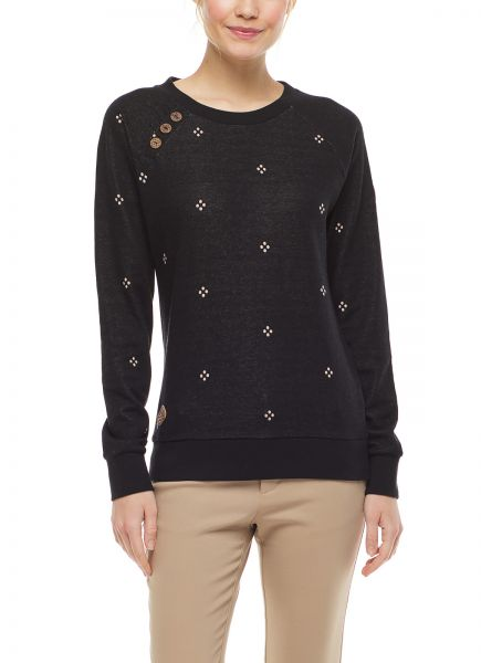 RAGWEAR - DARIA DOTS Sweatshirt black