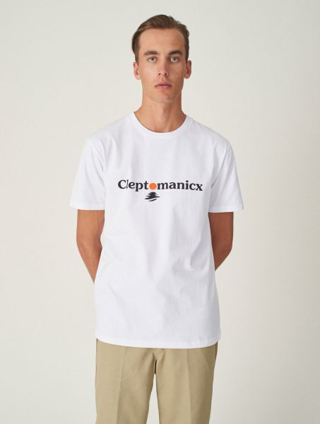CLEPTOMANICX - CLEPTO SUN Shirt white
