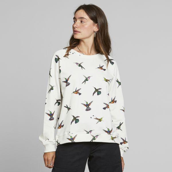 DEDICATED - HUMMINGBIRDS SWEATSHIRT YSTAD RAGLAN Pullover off-white