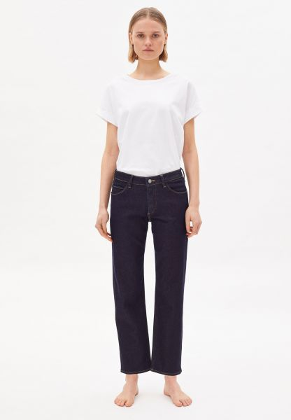 ARMEDANGELS - FJELLAA CR. CIRCULAR STRAIGHT FIT MID WAIST Jeans unwashed
