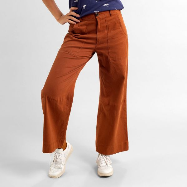 DEDICATED - Pants Workwear VARA - Mocha brown