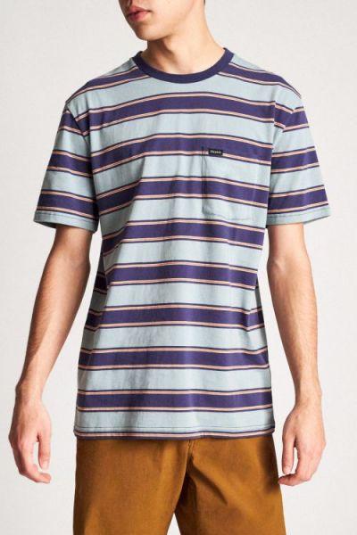 BRIXTON - HILT S/S Shirt blue stone