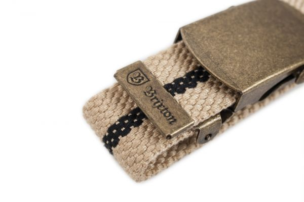 BRIXTON - EDWARDS BELT Gürtel khaki/black