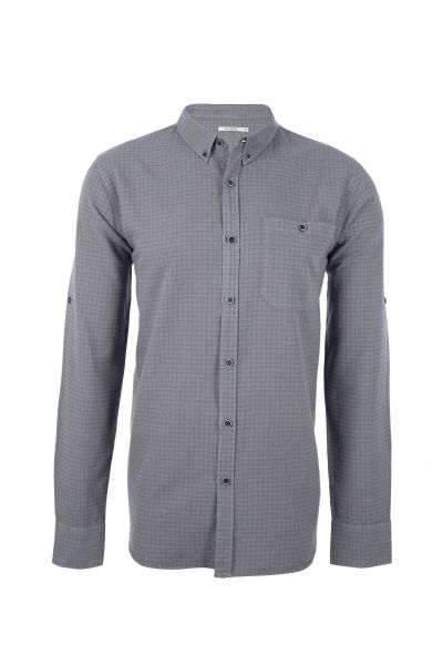 GREENBOMB - BREAK CHECK SHIRT Hemd silver grey