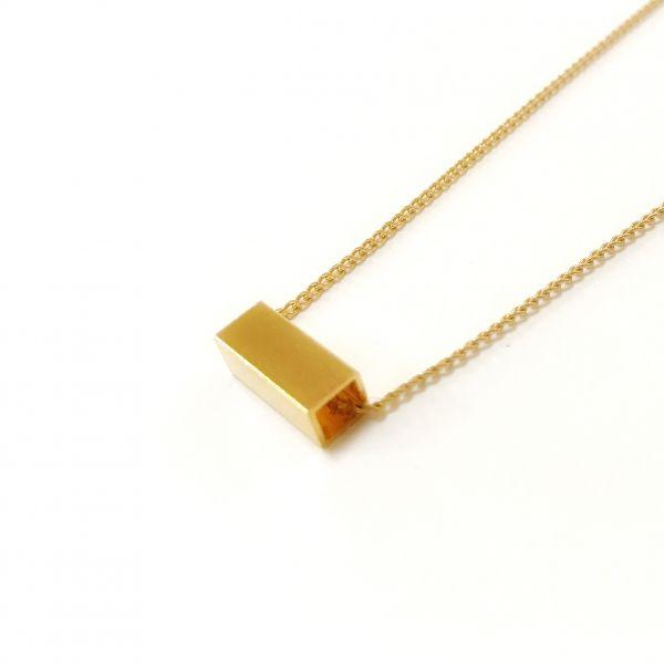 POTIPOTI - GEOMETRIC SMALL RECTANGLE Halskette
