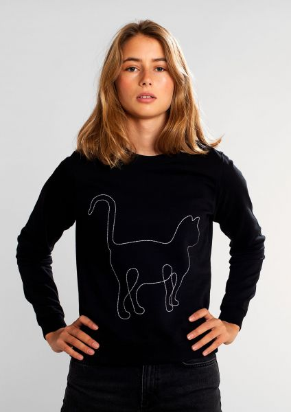 DEDICATED - SWEATSHIRT YSTAD CAT LINES Pullover black