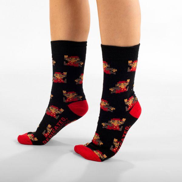 DEDICATED - SIGTUNA SOCKS SUPER MARIO Socken black