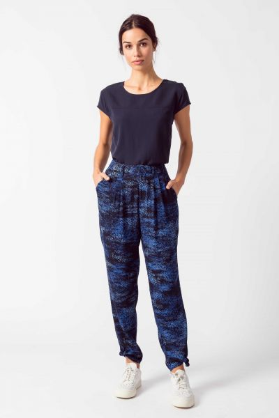 SKFK - ITZI TROUSERS Hose B6 dark blue