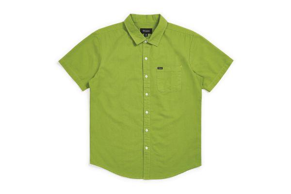 BRIXTON - CHARTER OXFORD S/S WVN Hemd grass