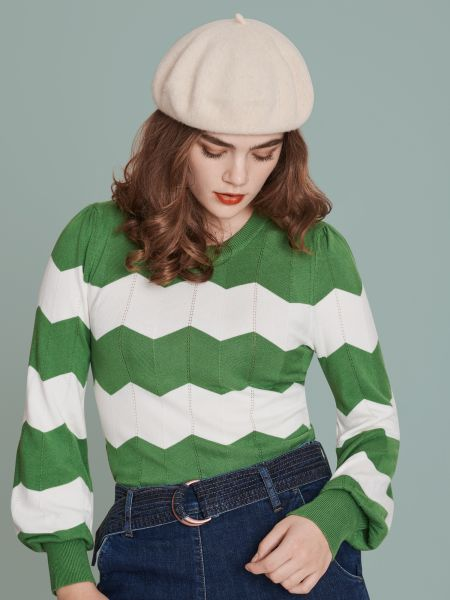 MADEMOISELLE YEYE - TEA WITH CREAM Knit Jumper Strickpullover green