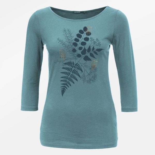 PLANTS BIRDS IN LOVE Shirt arctic blue