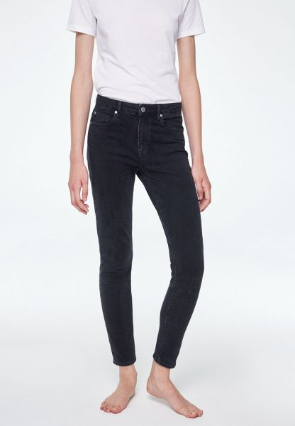 ARMEDANGELS - TILLAA SKINNY FIT MID WAIST Jeans washed down black