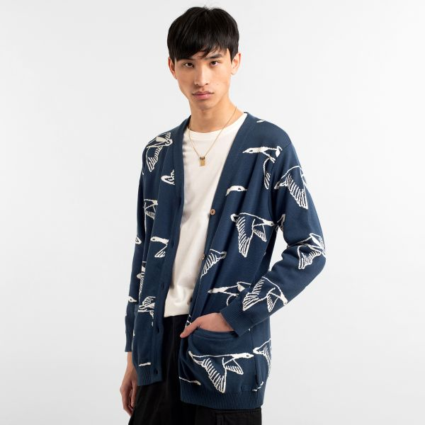 DEDICATED - MOLKOM DUCKS Cardigan blue