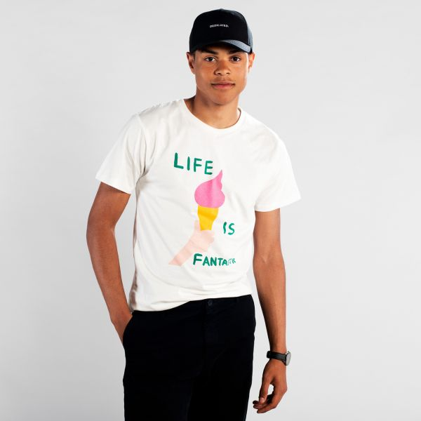 DEDICATED - LIFE IS FANTASTIC Stockholm Shirt white