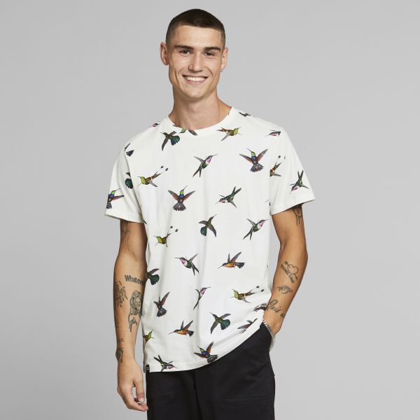 DEDICATED - HUMMINGBIRDS Stockholm Shirt off-white