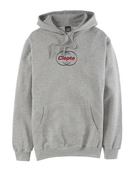 CLEPTOMANICX GLOBAL HOOD Hooded Sweater heather grey