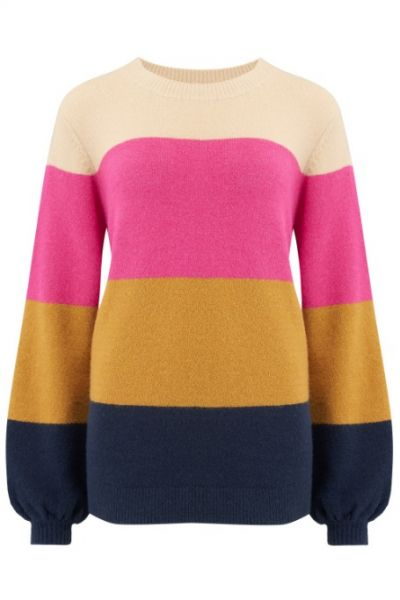 SUGARHILL BRIGHTON - ZURI BLOCK STRIPE SWEATER Pullover multi
