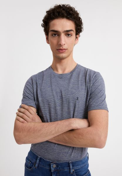 ARMED ANGELS - JAAMES STRUCTURE T-Shirt light pacific ink light linen