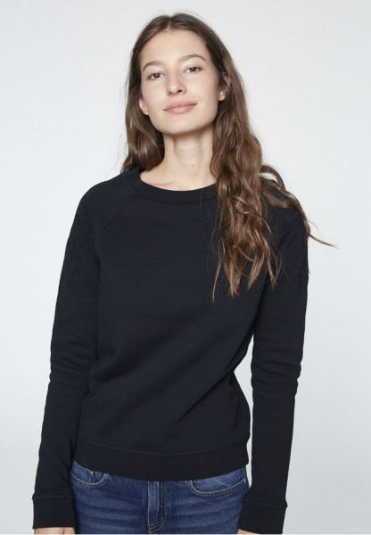 ARMEDANGELS - ROMMY PLACED FLOWERS Pullover black