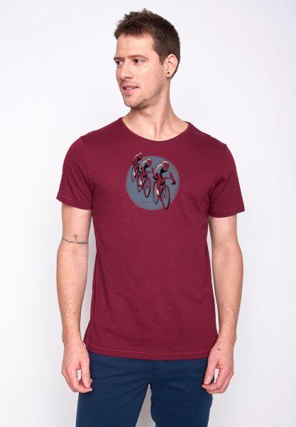 GREENBOMB - BIKE TOUR T-Shirt bordeaux