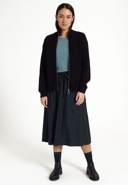 RECOLUTION - HOLLY # ABSTARCT Skirt Rock deep green