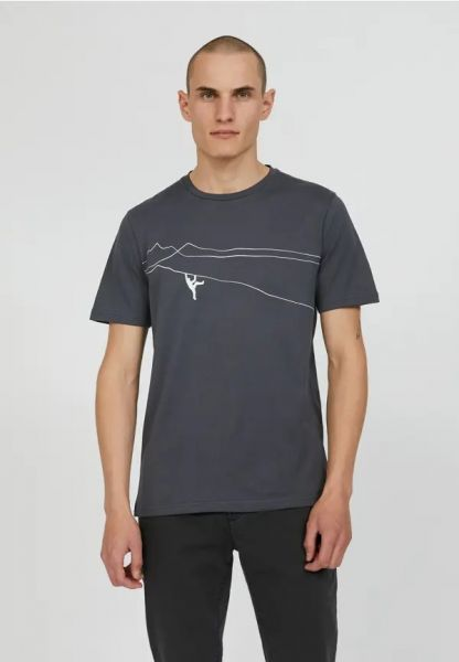 ARMEDANGELS - JAAMES MOUNTAIN CLIMBER  T-Shirt acid black