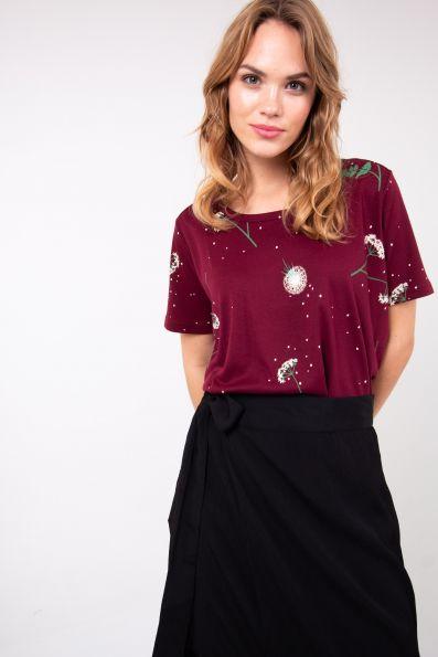 DANEFAE - SUPER DUPER TEE Shirt dark bdx meadow