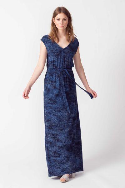 SKFK - JARE DRESS Kleid B6 spray printed blue