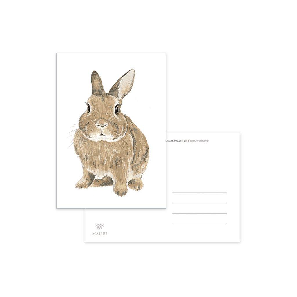 MALUU-RABBIT-Postkarte-Hase-A6