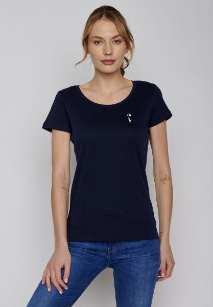 GREENBOMB - ANIMAL PUFFIN STANDS Loves Shirt dark navy