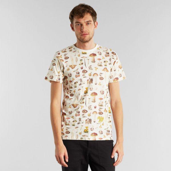 DEDICATED - MUSHROOMS STOCKHOLM T-Shirt off-white