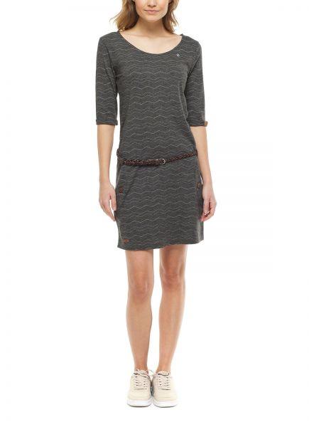 RAGWEAR - TANYA CHEVRON Dress Kleid dark grey