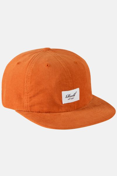 REELL - FLAT 6-PANEL CAP Mütze orange ribcord