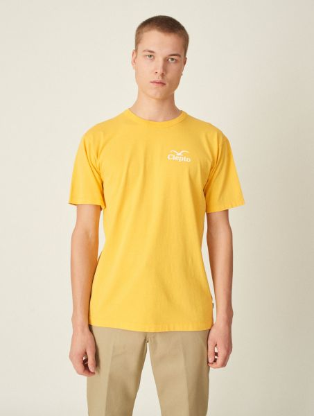 CLEPTOMANICX - CI MOWE T-Shirt yellow