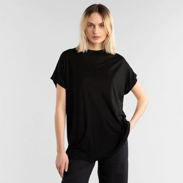 DEDICATED - FLOR TOP T-shirt black