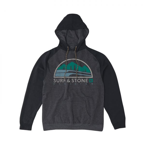 HIPPY TREE - COSTAL HOODY Kapuzenpullover heather charcoal