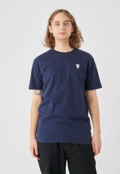 CLEPTOMANICX - EMBROIDERY TOAST Shirt dark navy