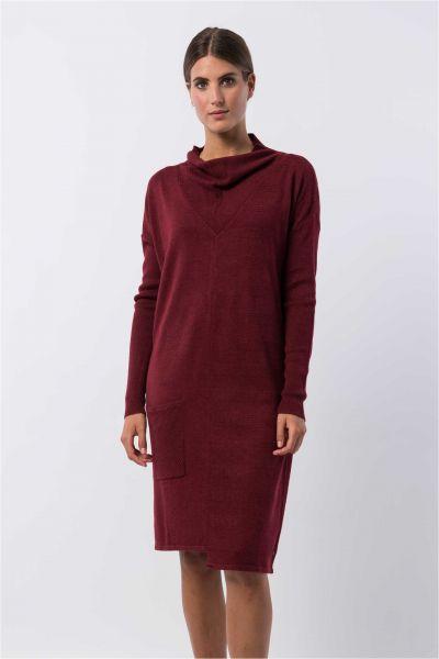 SKUNKFUNK - EDURNE DRESS Kleid maroon