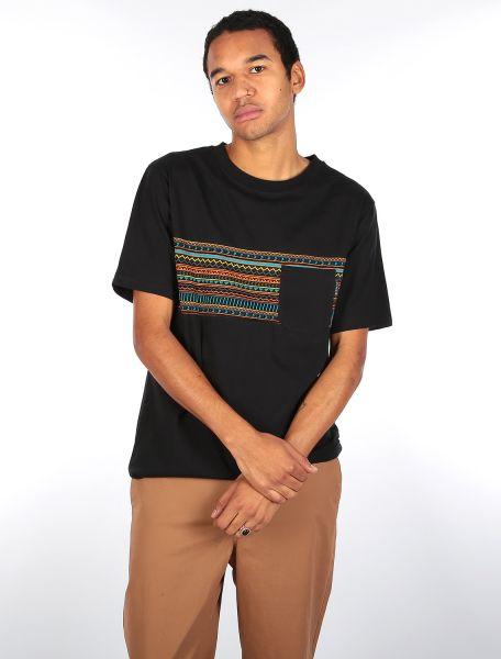 IRIE DAILY - CHOP CHOP POCKET TEE T-Shirt black neon