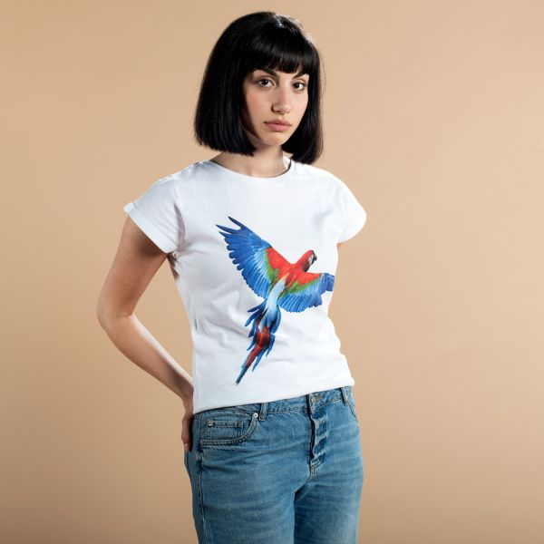 DEDICATED - PARROT WINGS T-shirt Visby white