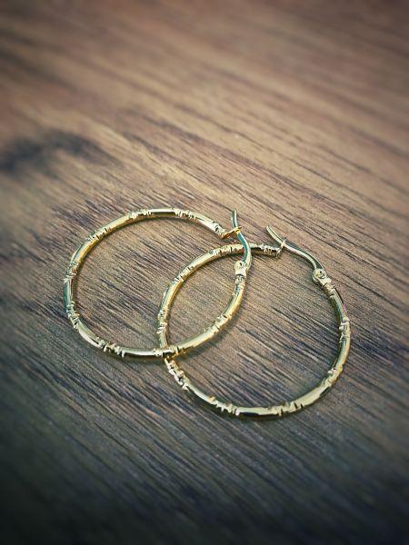 DOPPELLOTTE - CIRCLES CREOLE Ohrschmuck gold