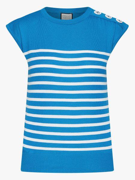 FEEL THE BEAT Knit Top stripes blue/ ecru