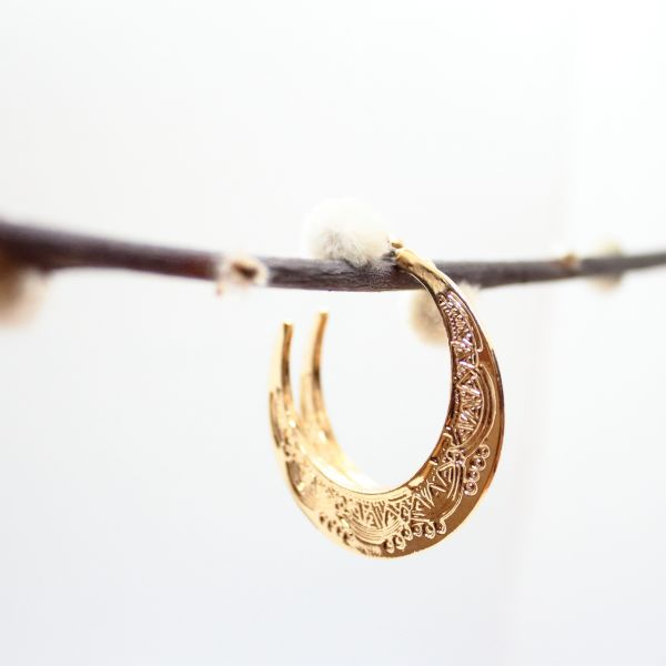HALFMOON CREOLE Ohrschmuck gold
