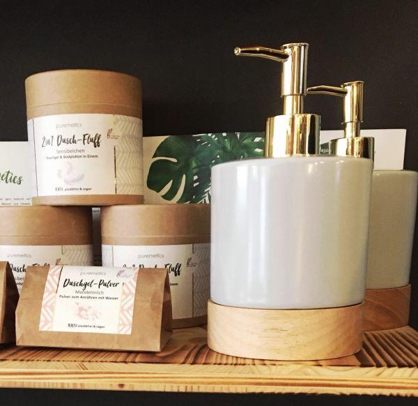 BLOOMINGVILLE - SOAP DISPENSER, Grey, Porcelain