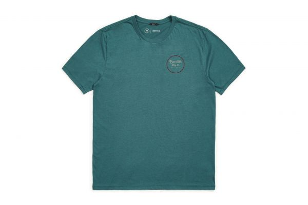 BRIXTON - WHEELER II S/S PREM TEES/S POLO Shirt emerald