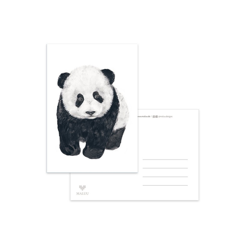 MALUU-PANDA-Postkarte-A6