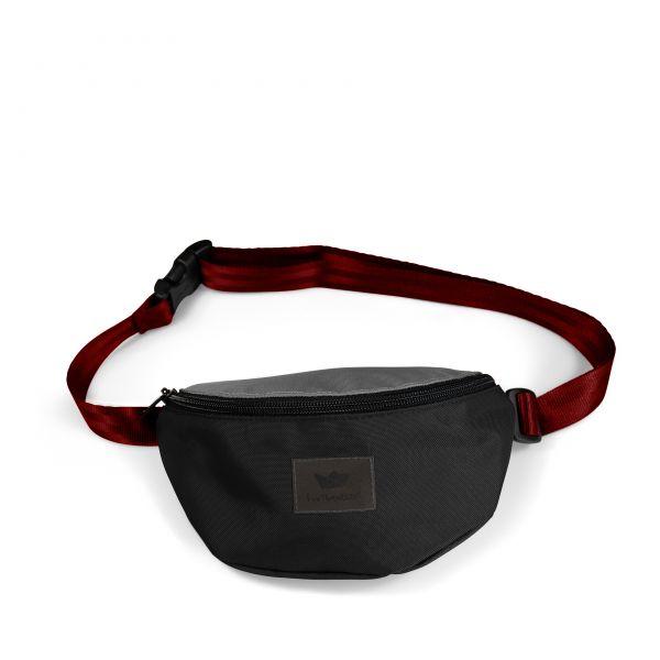 FREIBEUTLER - HIP BAG - Bauchtasche red strap