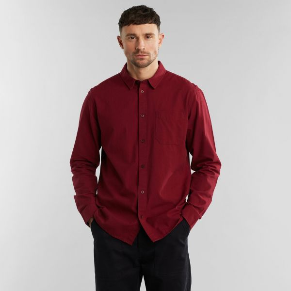 DEDICATED - VARBERG SHIRT Hemd burgundy