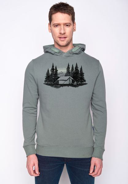 GREENBOMB - NATURE FOREST TENT Star Hoodie olive