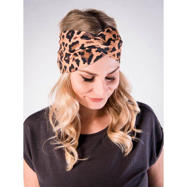PUFFBIRD - LEOPARD Stirnband jersey leopard